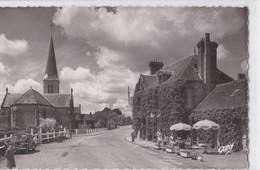 Carte 1950 SAINT MICHEL DES ANDAINES / EGLISE ST MICHEL ET AUBERGE DE LA BRUYERE - France