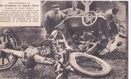 Carte 1930 ST CHRISTOPHE LE JAJOLET / AUTO BRISEE PAR UN TRAIN A UN PASSAGE A NIVEAU LE 15 SEPTEMBRE 1920 - France