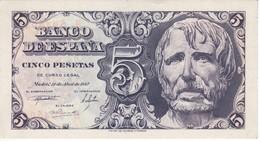 BILLETE DE 5 PTAS DEL AÑO 1947 SERIE B DE SENECA  SIN CIRCULAR - UNCIRCULATED   (BANKNOTE) - 5 Pesetas