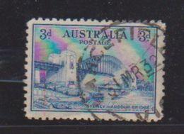 Australie  / N 90 / 3 P Bleu / Oblitéré / Côte 18 € - 1913-36 George V : Other Issues