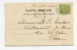 !!! PRIX FIXE : NOUVELLE CALEDONIE, CPA DE 1904 POUR LA FRANCE, TARIF IMPRIME - Nueva Caledonia