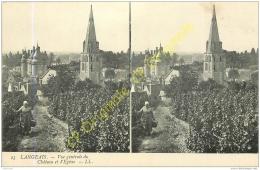 37. LANGEAIS . Vue Générale Du Chateau Et L'église . - Langeais