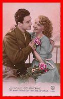 CPA COUPLES.  Jeune Militaire Et Sa Fiancée, Roses...B628 - Coppie