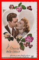 CPA COUPLES.  Je Trouve Mon Coeur, Roses...B629 - Coppie