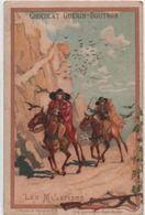 Chromo Publicitaire /Chocolat Guérin Boutron/ Moyens De Transport/Les Muletiers/Bd Poissonniére/PARIS/Vers1890    IMA339 - Guerin Boutron