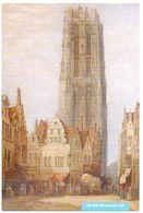Mechelen Malines St Romboutstoren Tour Kerk église Schilder John Wood 1860 - Mechelen