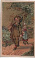 Chromo Publicitaire à Fond Doré/Jean Est Bien Fat!/Grand Bazar De L'Orne /Scordel/Alençon/Vers1880    IMA340 - Other