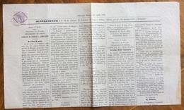 LA PROVINCIA DI PESARO E URBINO SUPPLEMENTO 25/4/1876 AVVISI D'ASTA COMUNI DI SERRA S.ABBONDIO,FRONTINO,MONDAVIO,FANO.. - Before 1900