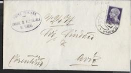STORIA POSTALE LUOGOTENENZA - PIEGO DA VILLAFRANCA DI VERONA 25.08.1945 PER AVIO (TN) - Storia Postale
