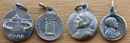 NM-416 Lot De 2 Médailles Religieuses Paulus VI Et Puis XII - Godsdienst & Esoterisme