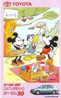 Télécarte Japon / 110-011 - DISNEY - Série TOYOTA (6149)  Voiture Corsa - Car Japan Phonecard - Auto Telefonkarte - Disney