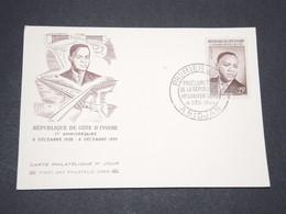 COTE D 'IVOIRE - Carte Maximum Du Président Houphouet Boigny En 1959 - L 13364 - Côte D'Ivoire (1960-...)