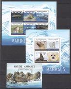 H501 2016 ANTIGUA & BARBUDA MARINE LIFE MARINE MAMMALS1BL+2 KB MNH - Meeressäuger