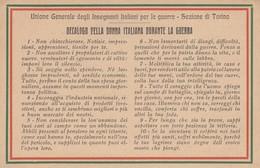 11644-DECALOGO DELLA DONNA ITALIANA DURANTE LA GUERRA-FP - Patriottiche