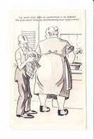 Le Mari Doit Aide Et Protection à Sa Femme! De Man Moet Hulp...couple Belge à La Vaisselle, P.J. Bruxelles, 1950 Env. - Humour