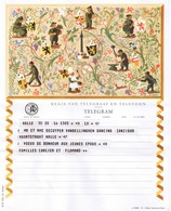 Telegram,tèlégramme, Telegramm: B.B 21 (NL) N.Acket; Halle-Halle - Announcements
