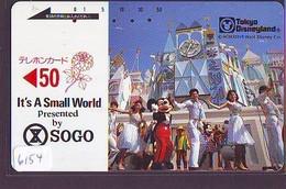 Télécarte WITHOUT FRONT BAR Japon / 110-22535 - DISNEY DISNEYLAND - SMALL WORLD  (6154) Japan Phonecard - Disney