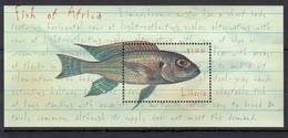 H508 LIBERIA MARINE LIFE FISH OF AFRICA 1BL MNH - Fische