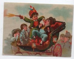 Chromo Vernissé Ancien / Brigand Attaquant Un Bourgeois Dans Une Calèche/Vers1880-90    IMA343 - Other