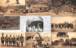 Lot 12 Cartes (animée, Soldas Bangalas Lisala, Seins Nus, Upoto..) - Congo Belge - Autres
