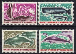 St-Pierre-et-Miquelon N° 391 - 394 **, Baleine, Phoque, Dauphin, Cachalot ** - Ungebraucht