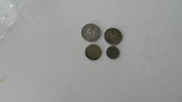 Lot De 4  Monnaies  Argent - Coins & Banknotes