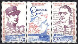 St-Pierre-et-Miquelon N° 532A **, Tryptique De Gaulle - Ungebraucht