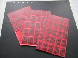 Albanien 1922 Portomarken Nr. 18 - 20 ** / Postfrisch Mit 354 Marken Z.T. In 50er Einheiten! Katalogwert 2008: 910€ - Albania