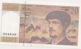 20 FRS DEBUSSY G 051 1997 - 1962-1997 ''Francs''