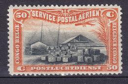 Belgium Congo 1921 Mi. 42    50 C. Kai Am Kongo Flugpostmarke MH* - Belgian Congo