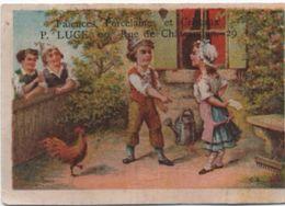 Chromo  Ancien/Faîences Porcelaines Et Cristaux/Paysans/P LUCE/ Rue De Chateaudun//Liége H Dessain/Vers1880-90    IMA346 - Other