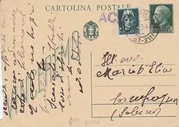 Serre. 1944. Annullo Frazionario ( 57 - 211 ) + Annullo ACS, Su Cartolina Postale VINCEREMO, Con Testo - 1900-44 Victor Emmanuel III