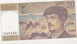 20 FRS DEBUSSY S 024 - 1962-1997 ''Francs''