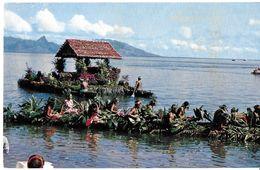 OCÉANIE TAHITI  CONCOURS DE PIROGUES FLEURIES C16732 DIST. SINCERE - Tahiti