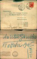 8367a) Busta Con 4lire Democratica Da Urio Como X Catania  17-10-46 - 6. 1946-.. Repubblica