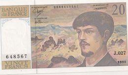 20 FRS DEBUSSY J 027 1990 - 1962-1997 ''Francs''
