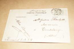 Superbe Courrier Sur Carte,Belle Oblitération Centrale De Séviscourt , Envoi De 1912 - Marcophilie