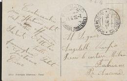 POSTA MILITARE Ia GUERRA - CARTOLINA ILLUSTRATA TEMPIO POLA 15a DIVISIONE (p.1) 09.06.1916 PER FABRIANO - 1900-44 Vittorio Emanuele III