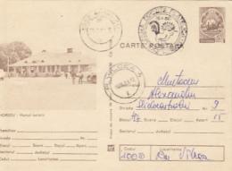 TOURISM, HOREZU INN, CAR, PC STATIONERY, ENTIER POSTAL, 1981, ROMANIA - Holidays & Tourism