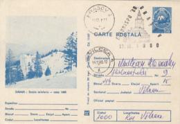 TOURISM, SINAIA 1400 HIGHT CABLE STATION, PC STATIONERY, ENTIER POSTAL, 1980, ROMANIA - Holidays & Tourism