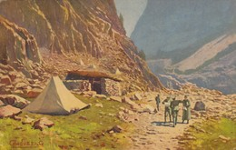 11652-ACCAMPAMENTO IN ALTA CARNIA-FP - Guerra 1914-18