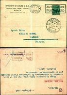 8258a) Busta Con 8lire Serie Democratica-14-2-48-annullo A Targhetta Aiuto D'america-pane E Lavoro - 6. 1946-.. Repubblica