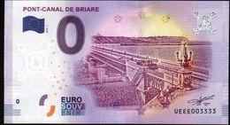 France - Billet Touristique 0 Euro 2018 N°3333 (UEEE003333/5000) - PONT-CANAL DE BRIARE, Palindrome - EURO