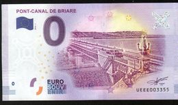 France - Billet Touristique 0 Euro 2018 N°3355 (UEEE003355/5000) - PONT-CANAL DE BRIARE, Palindrome - EURO
