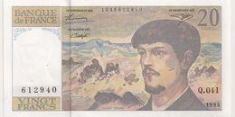 20 FRS DEBUSSY NEUF Q 041 1993 - 1962-1997 ''Francs''