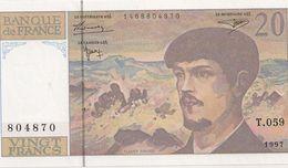 20 FRS DEBUSSY NEUF T 059 1997 - 1962-1997 ''Francs''