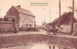 HEUDICOURT - Rue De La Villeneuve - Attelage - Frankreich