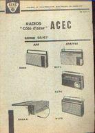 « ACEC CHARLEROI – Radios Côte D'azur – Série 66/67 – Notice Technique» - Littérature & Schémas