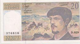 20 FRS DEBUSSY NEUF D 029 1990 - 1962-1997 ''Francs''
