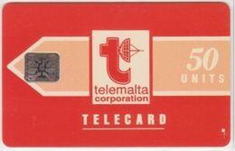 219/ Malta; P1. Telemalta Logo, 50 Ut., CN 33050, Glossy - Malta